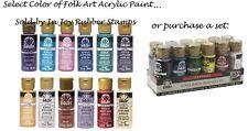 Folk Art Acrylic Paint FolkArt All Purpose 2 Oz. Bottle, Choose From 100 Colors