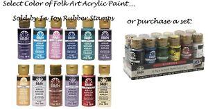 FolkArt Acrylic Paint Folk Art All Purpose 2 Oz. Bottle, Choose From 120+ Colors