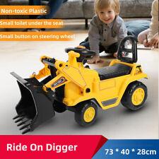 Kids Children Ride on Bulldozer Toy Excavator Digger Tractor Loader Xmas Gift AU