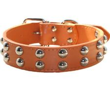 "1.2"" Leather Dog Collar Spiked Studded Collar Medium Large Breed Pitbull Terrier"