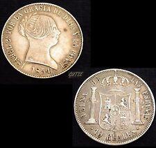 *GUTSE*134-ISABEL II, 10 REALES 1854, BARCELONA, MBC+