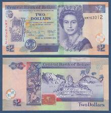 BELIZE  2 Dollars 2014 UNC  P. 66 e