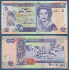 Belice 2 dollars 2014 UNC p. 66 e