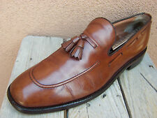 NETTLETON Mens Dress Shoes Cognac Tassel Loafers Classic Casual Comfort Size 10D