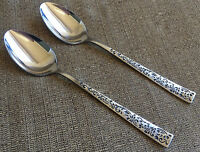 Madrilla Stanley Roberts Rogers 2 Oval Soup Place Spoons Japan Vine Stainless