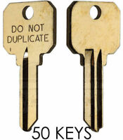 50 Uncut Schlage SC1 DND DO NOT DUPLICATE 5-PIN Key Blanks - LOT of 50 Keys