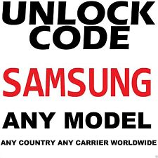 Unlock Code All Networks All Samsung Note Mega Light Galaxy S3 S4 S5 S6 S7