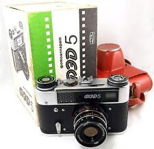 ❤ FED-5 ☭ USSR Russian Leica Rangefinder Camera in BOX +Lens INDUSTAR-61 2.8/53