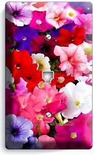 PETUNIA GARDEN FLOWERS VARIETY PHONE JACK TELEPHONE WALL PLATE COVER HOME DECOR
