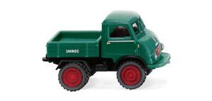 Wiking 036803 - 1/87 Unimog U 401 Avec Doppel Pneus - Vert Mousse - Neuf