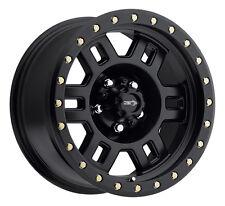 "4-NEW Vision 398 Manx 16x8 8x165.1/8x6.5"" +0mm Matte Black Wheels Rims"