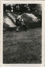 PHOTO ANCIENNE - VINTAGE SNAPSHOT - ANIMAL CHIEN MOUVEMENT FLOU - DOG 1947
