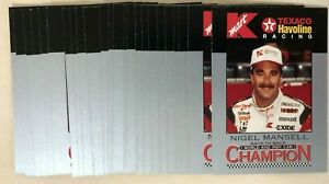 Nigel Mansell 1994 K-Mart Racing #1 - Lot of 25 Cards - IRL Indy Car Driver