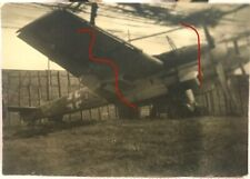 Original WWII photo wrecked German night fighter aircraft captured Bf 110 #2