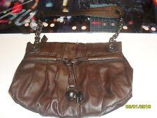 sac Esprit en cuir brun usagé
