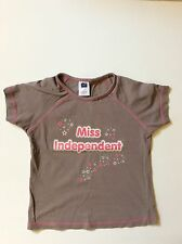 M&Co girls brown t-shirt 7 - 8 years