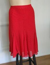 Polka Dot A-Line Machine Washable Plus Size Skirts for Women