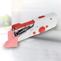 Portable Mini Handheld Sewing Machines Stitch Sew Needlework Cordless Cloth F7O9