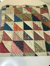 vintage quilt throw size sofa chair blanket multi colored floral print patch
