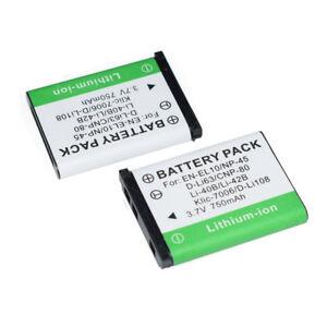 2x Li-40B/42B Battery for Olympus Li-42B/Pentax D-Li63/EN-EL10 4W9H