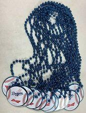 MLB Los Angeles Dodgers Baseball Budweiser Mardi Gras Beaded Necklace Lot of 11