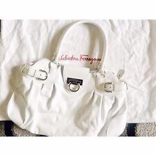 Salvatore Ferragamo Marisa White Leather Shoulder Bag RRP: £1,200.00