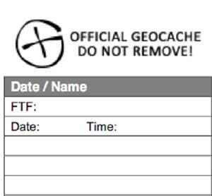 Geocaching Logbooks - Various Items