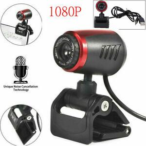 1080P HD Webcam USB Computer Web Camera For Desktop Laptop PC With Microphone