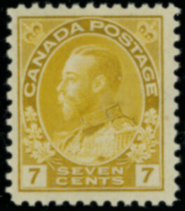 Canada  Stamps #113 mlh yellow ochre 7 cent FVF