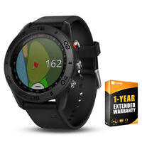 Garmin Approach S60 Golf Watch Black with Black Band + 1 Year Extended Warranty