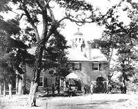 1863 Civil War Photo Fairfax Court House, Virginia, Union Soldiers on Roof -8x10