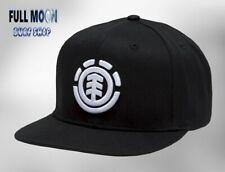 New Element Knutsen Black White Classic Mens Snapback Cap Hat