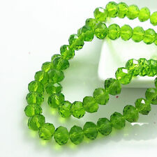 100pcs green tea exquisite Glass Crystal 3*4mm #5040 loose beads!