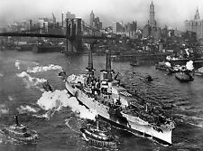 USS Arizona leaving NYC harbor 1938  8 x 10 Photograph
