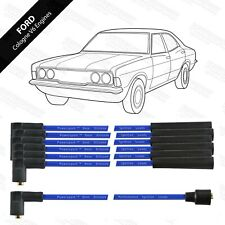 Ford Cologne V6 High Quality Performance 8mm HT Leads by Powerspark in Blue