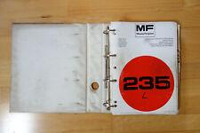 Massey Ferguson Traktor Schlepper MF 235 Ersatzteilliste Werkstatthandbuch 1979