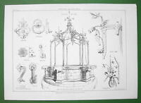 ARCHITECTURE PRINT : Italy Ornamental Metalwork from Mantua Ferrara Vicenza