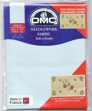 VAT DMC 14 Count Ct Cross Stitch Aida Fabric 800 Blue 20 X 30""