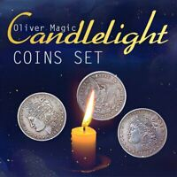 Candlelight Coins Set by Oliver Magic Coin Magic Tricks Gimmick Close up Magic