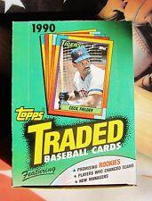 1990 Topps Traded Baseball Box Update Rookie Justice Olerud 36 sealed Packs