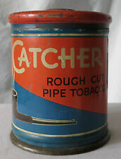 CATCHER TOBACCO by B & W BROWN & WILLIAMSON VINTAGE TOBACCO TIN CANISTER