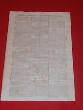 JOURNAL GAZETTE NATIONALE OU LE MONITEUR UNIVERSEL N° 307 VEND 02 NOVEMBRE 1792