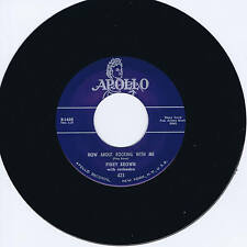 PINEY BROWN - HOW ABOUT ROCKING WITH ME / THATS RIGHT BABY - HOT JUMP R&B JIVERS