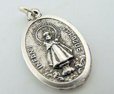 Infant of Prague Religious Pendant Pray For Us Medal Italian Charm I.O.P.
