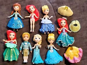 "Lot 8 Disney Princesses Little Kingdom Snap-In 3"" Dolls Mattel Hasbro Boy Prince"