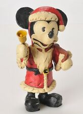 "Disney Polliwoggs Mickey Mouse Santa Figurine 9"" David Critchfield  Al Fortunato"