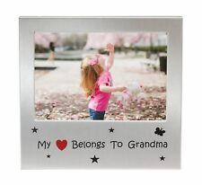 "My Heart Belongs to Grandma Photo Picture Frame Gift 5"" x 3.5"""