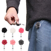 Clip Stationery Retractable Badge Reel Rose Shape Key Ring Badges Holder