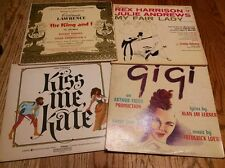 Vinyl Records Lot of 4. The King and I, GiGi, Kiss Me Kate, My Fair Lady.