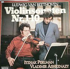 BEETHOVEN Violinsonaten Violin Sonatas 1-10 Perlman Ashkenazy 5 LP DECCA NM